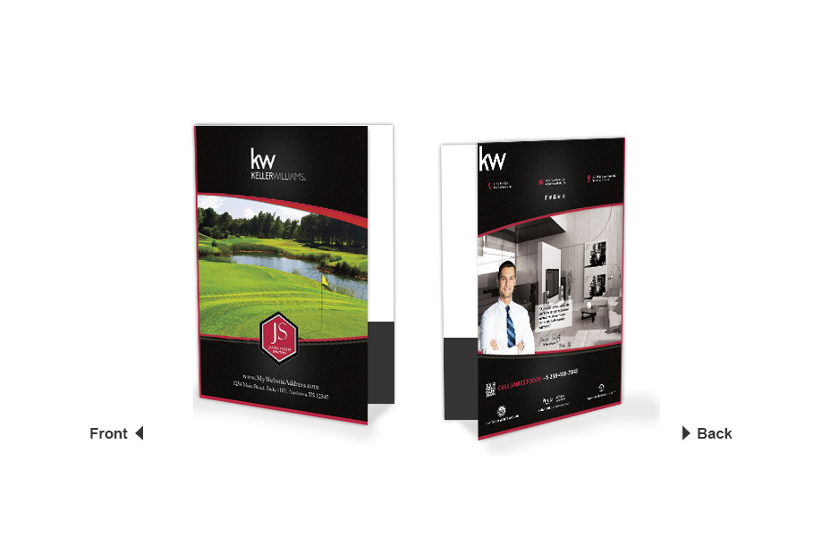 Keller Williams Folders, Keller Williams Realtor Folders, Keller Williams Agent Folders, Keller Williams  Office Folders, Keller Williams Broker Folders